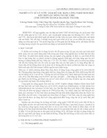 NGHIÊN CỨU XỬ LÝ NƯỚC THẢI ĐÔ THỊ BẰNG CÔNG NGHỆ SINH HỌC KẾT HỢP LỌC DÒNG NGƯỢC USBF docx