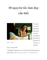 10 nguyên tắc làm đẹp cần biết docx