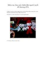 Khéo tay đan móc hình chú người tuyết dễ thương (P2) potx
