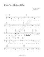 Bài hát chia tay hoàng hôn - Thuận Yến (lời bài hát có nốt) ppt