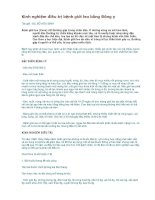 Kinh nghiệm điều trị bệnh giời leo bằng Ðông y pdf