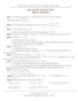 Các dạng bài tập hay ôn thi toán HK II và thi vào lớp 10