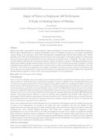Tài liệu tiếng anh tham khảo impact of stress on employees job performance a study on banking sector of pakistan
