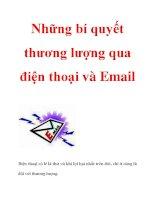 Những bí quyết thương lượng qua điện thoại và Email ppsx