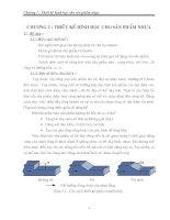 Chương 2- Thiết kế sản phẩm cho khuôn ép nhựa pptx