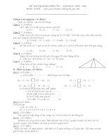 Đề thi hoc sinh giỏi và đáp án môn toán lớp 1