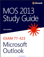 MOS 2013 study guide for microsoft outlook expert