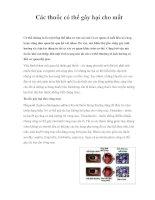 Các thuốc có thể gây hại cho mắt pdf