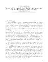 SÁNG KIẾN KINH NGHIỆM: MỘT SỐ GIẢI PHÁP TRONG CÔNG TÁC QUẢN LÝ CHUYÊN MÔN NHẰM NÂNG CAO CHẤT LƯỢNG GIÁO DỤC Ở TRƯỜNG TIỂU HỌC