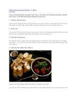 9 đặc trưng trong văn hóa ẩm thực Việt Nam doc