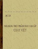 Thẩm định dự án - Nhà hàng thực phẩm chay cao cấp Chay Việt potx