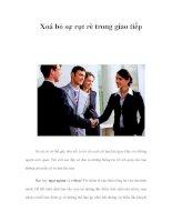 Xoá bỏ sự rụt rè trong giao tiếp potx