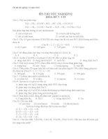 ôn tập lý thuyết hữu cơ 12