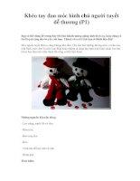 Khéo tay đan móc hình chú người tuyết dễ thương (P1) pptx