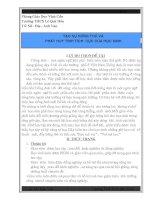 SÁNG KIẾN KINH NGHIỆM TẠO SỰ HỨNG THÚ VÀ PHÁT HUY TÍNH TÍCH CỰC CỦA HỌC SINH