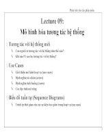 Lecture 09: Mô hình hóa tương tác hệ thống pdf