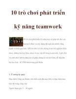 10 trò chơi phát triển kỹ năng teamwork doc