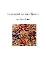Món ăn dành cho người bệnh xơ gan báng bụng docx