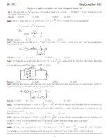 Bài tập trắc nghiệm mạch điện xoay chiều không phân nhánh - 01 pot