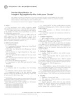 Designation: C 35 – 95 (Reapproved 2000) - Inorganic Aggregates for Use in Gypsum Plaster1 pdf