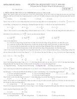 Đề kiểm tra vật lý lớp 12 - trường THPT Hà Trung pot