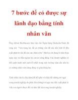 7 bước để có được sự lãnh đạo bằng tính nhân vǎn pps