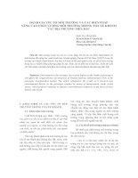 ĐÁNH GIÁ YẾU TỐ MÔI TRƯỜNG VÀ CÁC BIỆN PHÁP NÂNG CAO CHẤT LƯỢNG MÔI TRƯỜNG TRONG TOA XE KHÁCH TÀU ĐỊA PHƯƠNG PHÍA BẮC pot