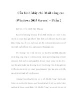 Cấu hình Máy chủ Mail nâng cao (Windows 2003 Server) – Phần 2 potx