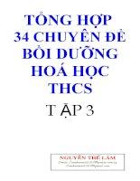 tong hop 34 chuyen de hoa hoc thcs hay