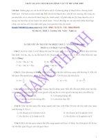 Câu hỏi trắc nghiệm lý thuyết môn Vật lý pptx