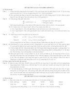 tuyển tập các đề thi toán ôn thi nội trú qua các năm