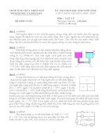 Đề thi học sinh giỏi môn lý 9 Huế (2)