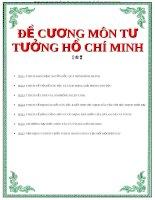 Đề cương Chính trị  Tư tưởng Hồ Chí Minh