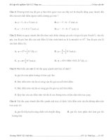 Bài tập trắc nghiệm Vật lí 12 Nâng cao pdf