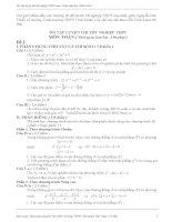 Tổng hợp các đề thi TN Toán (hay)