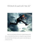 """8 lời khuyên cho người muốn """"nhảy việc"""" pot"""