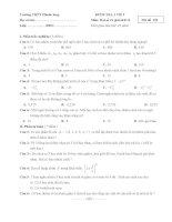 Đề, đáp án Kiểm tra 1 tiết Đại số chương II