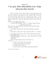 KỸ THUẬT VIỄN THÔNG - Chương 19: Các giao thức điều khiển truy nhập phương tiện truyền thông pot