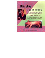 Biện pháp phòng chống các bệnh do virus từ động vật lây sang người (Phần 1) ppsx