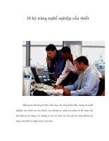 10 kỹ năng nghề nghiệp cần thiết potx
