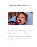 Ngộ độc thuốc nhỏ mũi co mạch ở trẻ em pot