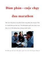 Đàm phán - cuộc chạy đua marathon pps