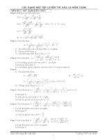Tổng hợp các bài tập toán ôn lớp 10.