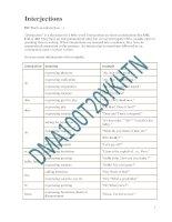 Interjections doc