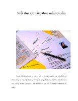 Viết thư xin việc theo mẫu có sẵn docx