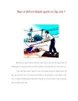 Bạn có thể trở thành người sơ cấp cứu ? ppt