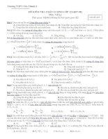 Đề kiểm tra trắc nghiệm Vật lý lớp 12 doc
