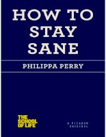 how to stay sane (the school of life) - perry philippa
