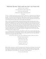 Phân tích bài th[ Mùa xuân nho nhỏ-Thanh Hải