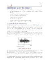 Giáo trình xử lý tín hiệu và lọc số 1 docx